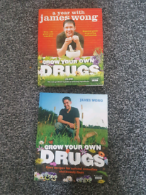 Grow your own drugs books x 2 By James Wong