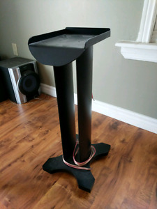 Custom made aluminum speaker stands