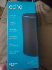 Brand new Amazon echo Alexa sealed.