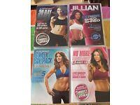 Jullian Michaels exercise DVDs joblot