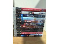 PS3 games bundle Lego movie Fifa 15 adventure time minecraft marvel