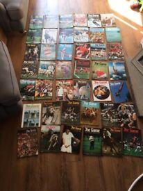 "42 Vintage ""the game"" magazines ""the Marshall cavendish encylopedia of world sports"