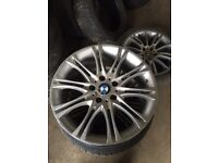 "18"" BMW mv2 alloys 3x spare wheels"
