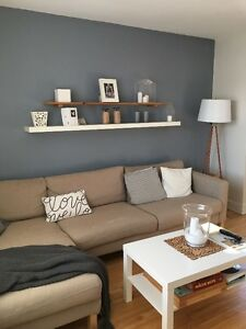 Confortable sectionnel 3 places + méridienne - beige - IKEA