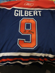 Oilers Gilbert pregame warm up worn+signed Anderson night jersey 8f5436f09