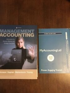 Management Accounting text w/ unopened lab