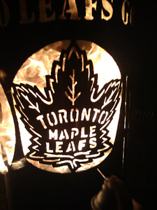 Maple Leafs chiminea -fire pit