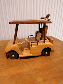 Wooden golf buggy ornament. Can post
