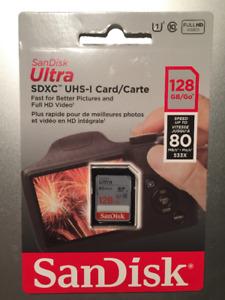 SanDisk Ultra 128GB SDXC Class 10 UHS-I Flash Card