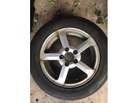 2 x Volvo alloys and tyres 195/60/15 Bridgestone