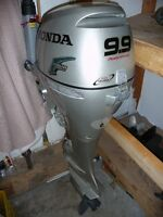 New 9.9 Honda Power thrust 9.9 HP outboard. 20 inch long shaft.