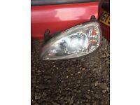 Vauxhall corsa head light