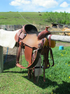 Saddle 15 inch K&K custom roper