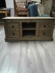 Rustic Solid wood TV stand