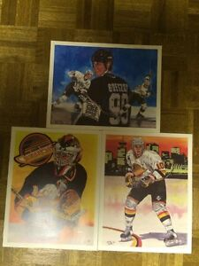 Vintage Limited Edition NHL Prints - Gretzky, Bure, and McLean