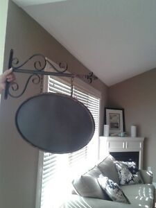 HANGING WROUGHT IRON FRENCH SIGN London Ontario image 1