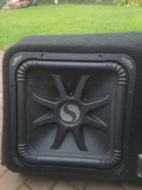 "Twin kicker subs 15"" 1500 watt each"