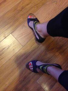 Maldita snake skin brown heels, barely worn
