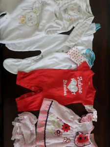 Lot of clothing for newborn baby girl