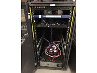 Dell 24 server cabinet with extra