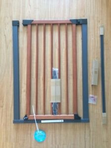 "Pet Gate w/Graphite frame and Wood door 39"" high"