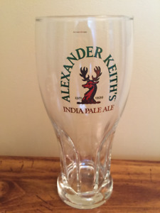Alexander Keith's India Pale Ale drinking glass