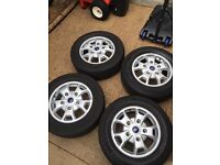 Transit custom alloy wheels and tyres and nuts