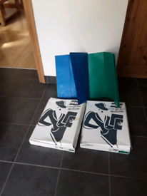 A3 wallets blue and green card folders for A3 paper or documents