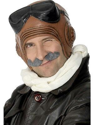Adult Latex Vintage Fighter Pilot Costume Hat (Latex Hat)