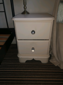 Reclaimed bedside tables/lockers x 2
