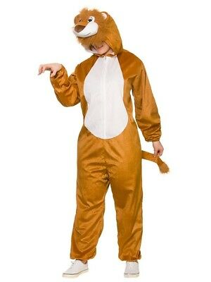 Adults Deluxe Lion Costume King Animal Fancy Dress Jungle Book Week Ladies Mens