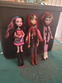 Set 3, 3xMonster High Doll