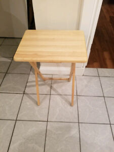 "Folding table 19"" wide x 14. 75"" deep x 26"" high"