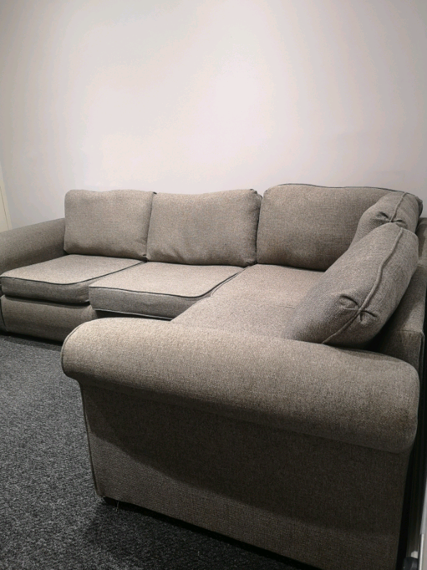 Grey Corner L Shaped Sofa For Sale