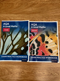 A-Level and AS level Maths exam practice workbook AQA