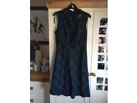 Black/ Blue/ Green checkered dress