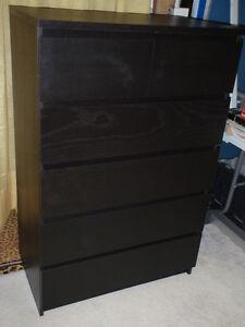 Commode de 6 tiroirs  / 6 Drawer dresser Ikea Malm