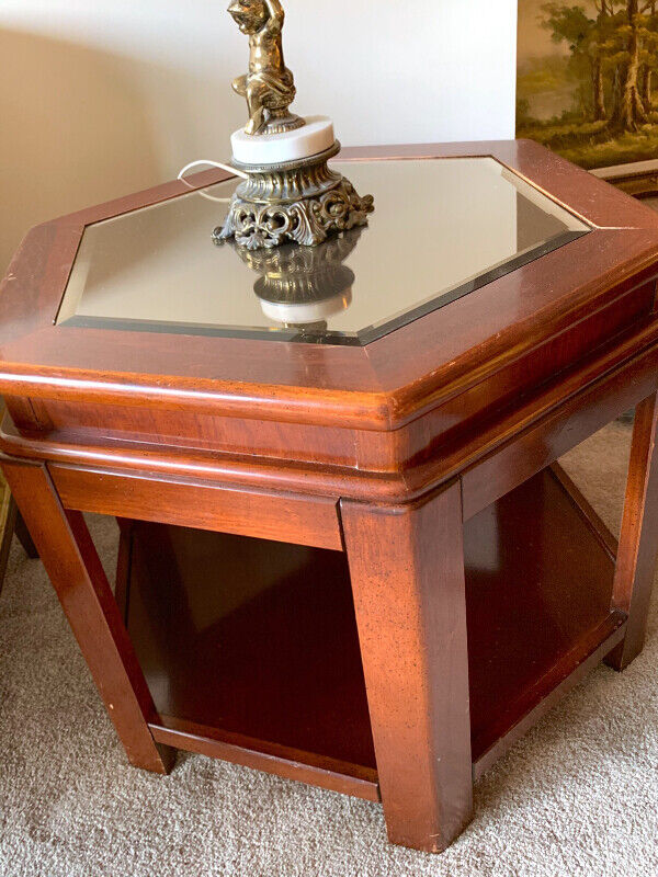 3 Solid Cherry Wood Coffee Tables