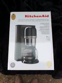 New KitchenAid Pour Over Coffee Brewer Maker Almond Cream Krups Mixer