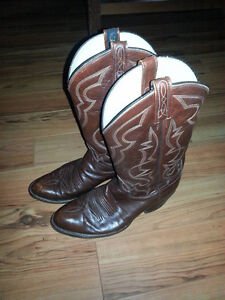 Brown Leather Men's Cowboy Boots - Fits like a Men's 8US