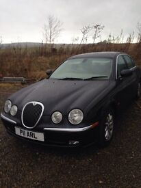 Jaguar s type with private plate