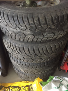 GeneralTire Artimax winter tires 265/70R17 on Rims fit Ram 1500