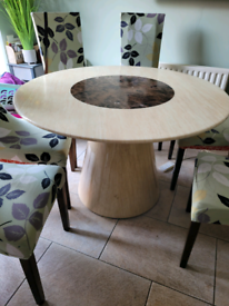 Marble table and chairs