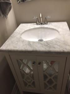 MARBLE vanity with FAUCET - Almost NEW
