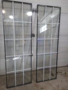 Door thermal glass inserts