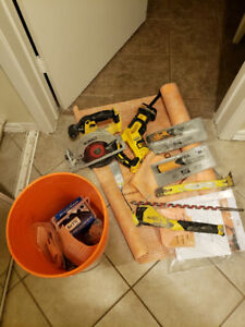 Sawzall, Circular saw and waterproofing materials for sale
