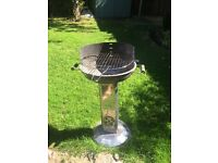 BBQ barbecue charcoal. Stainless steel.