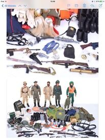 WANTED vintage Toys-Action Man, Thunderbirds,Starwars, Sci-Fi,1960/80,s