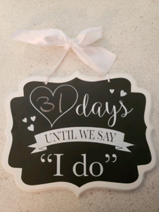 Countdown sign - wedding