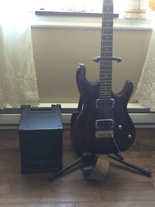 Ibanez guitar and amp